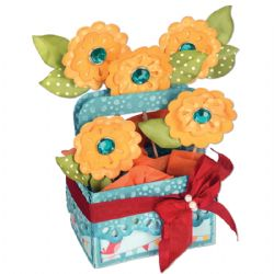 660297 Sizzix Bigz XL Die - Card in a Box, A2 Flower Basket by Lori Whitlock